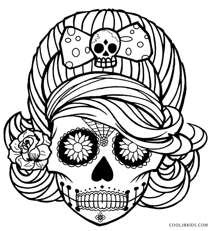 printable pictures of skull page,printable,coloring pages