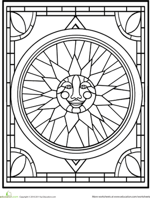coloring pictures stained-glass,printable,coloring pages