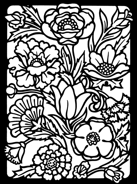 stained-glass coloring page,printable,coloring pages
