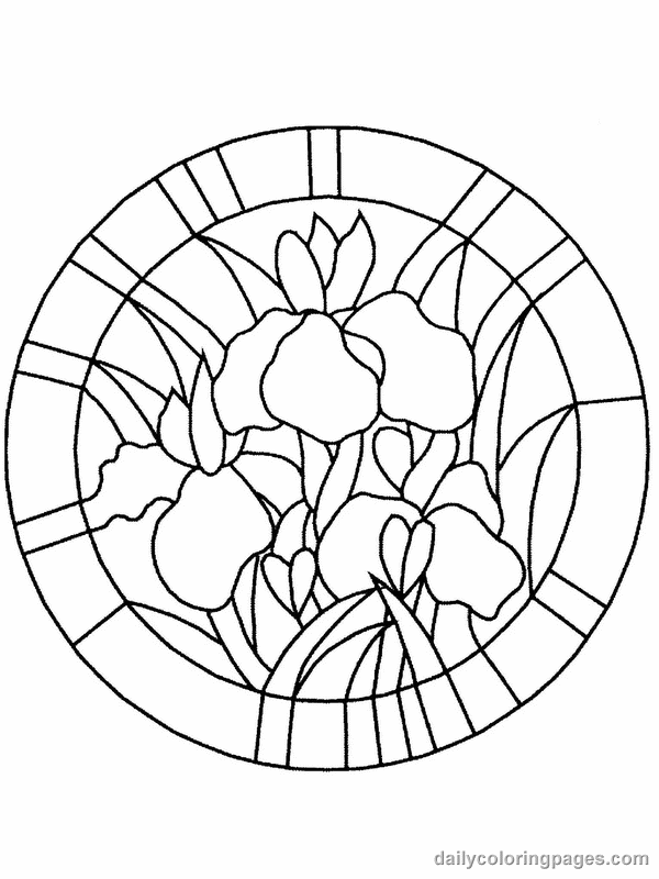 stained-glass coloring page to print,printable,coloring pages