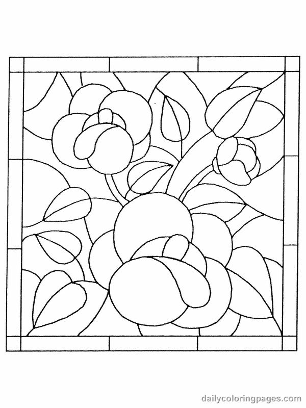 stained-glass coloring pages 15,printable,coloring pages
