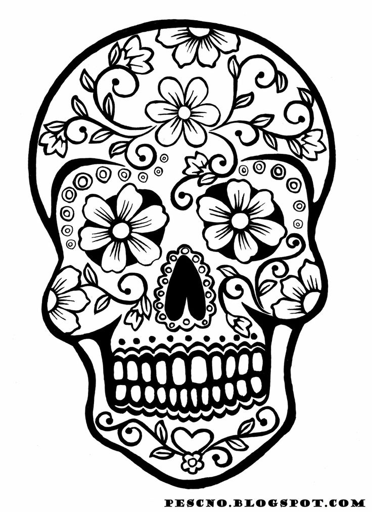 coloring pages of sugar-skull-free,printable,coloring pages