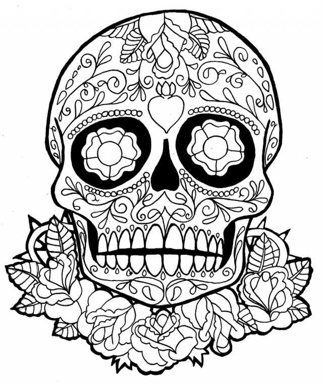coloring pictures sugar-skull-free,printable,coloring pages