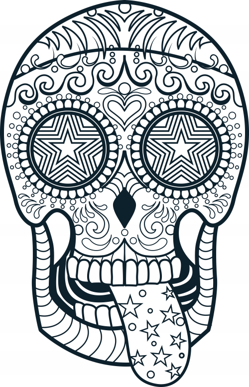 printable pictures of sugar-skull-free page,printable,coloring pages