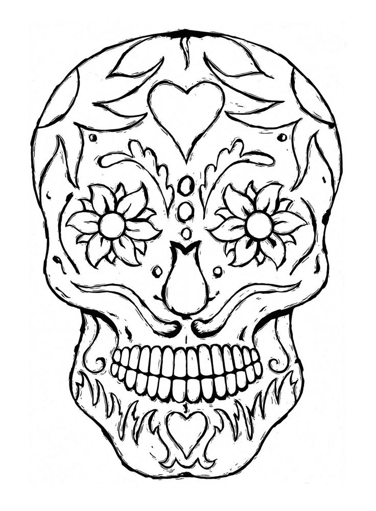 sugar-skull-free coloring page,printable,coloring pages