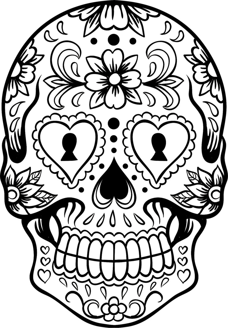 sugar-skull-free coloring pages,printable,coloring pages