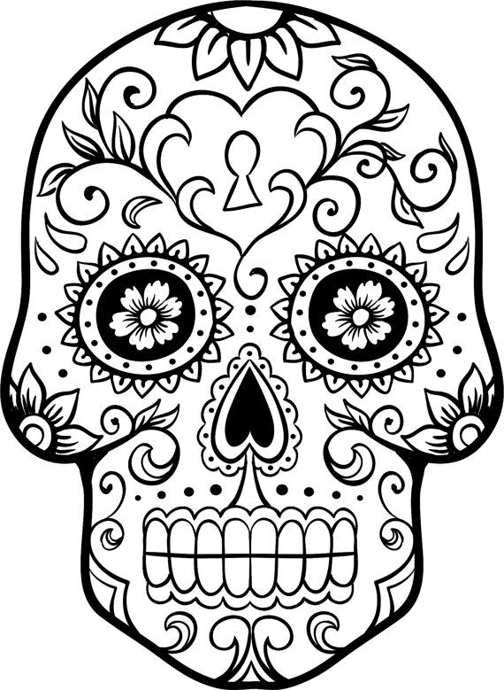 sugar-skull-free coloring pages 11,printable,coloring pages