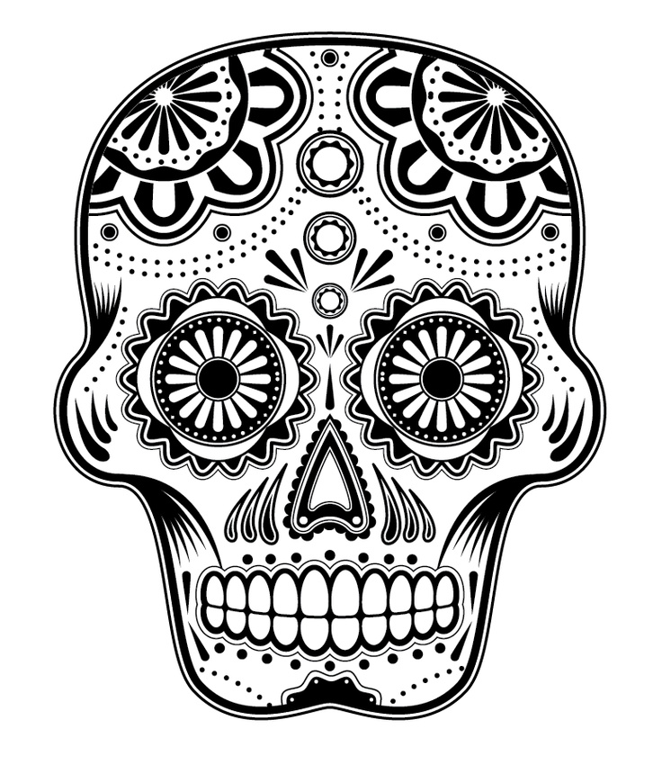 sugar-skull-free coloring pages for kids,printable,coloring pages