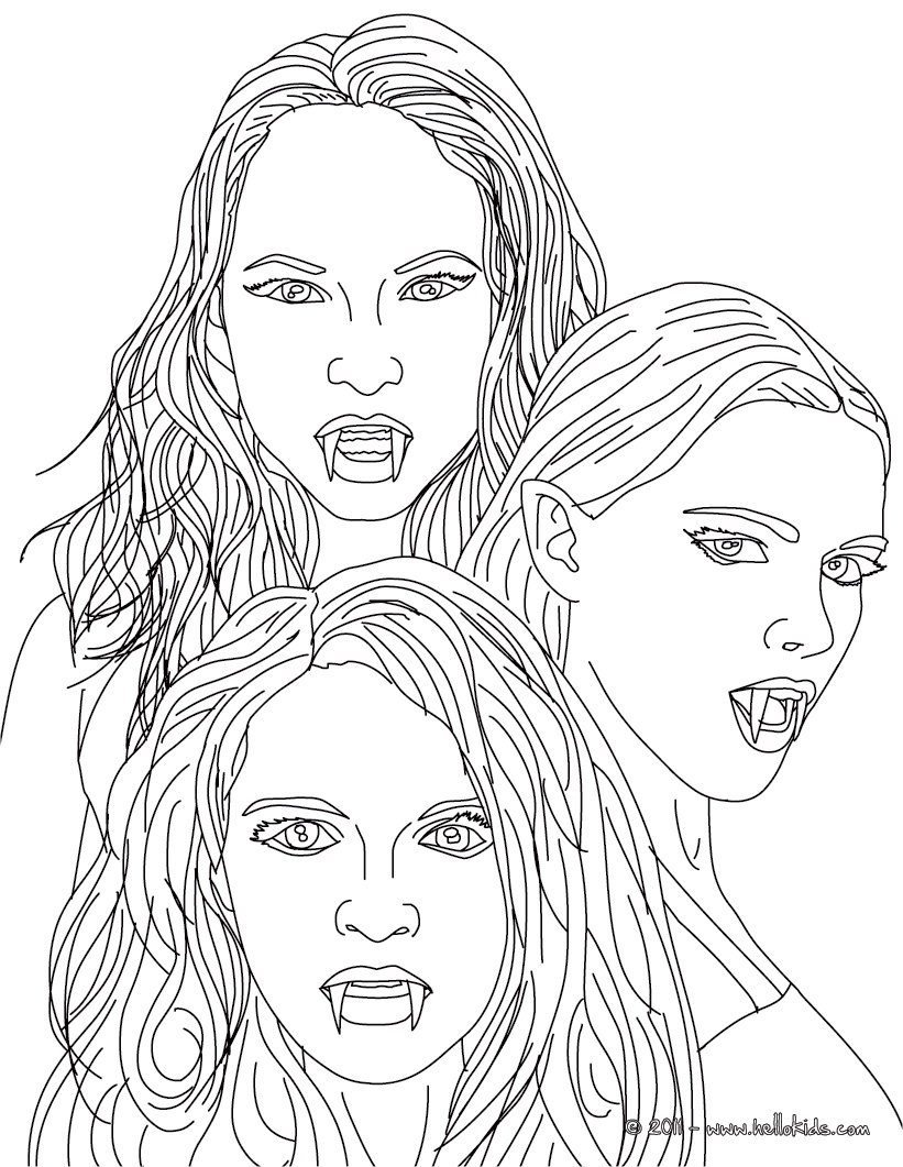 vampire girl coloring pages - 12 vampire coloring pages printable print color craft