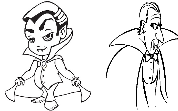 95 Vampire Coloring Pages Printable Cute