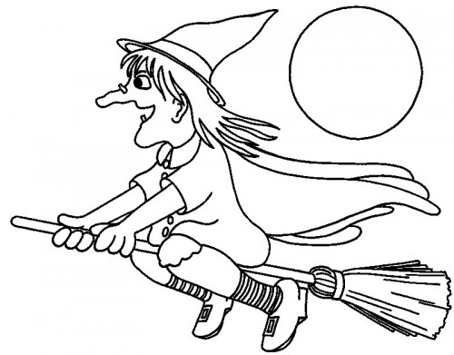 kids coloring pages witch,printable,coloring pages