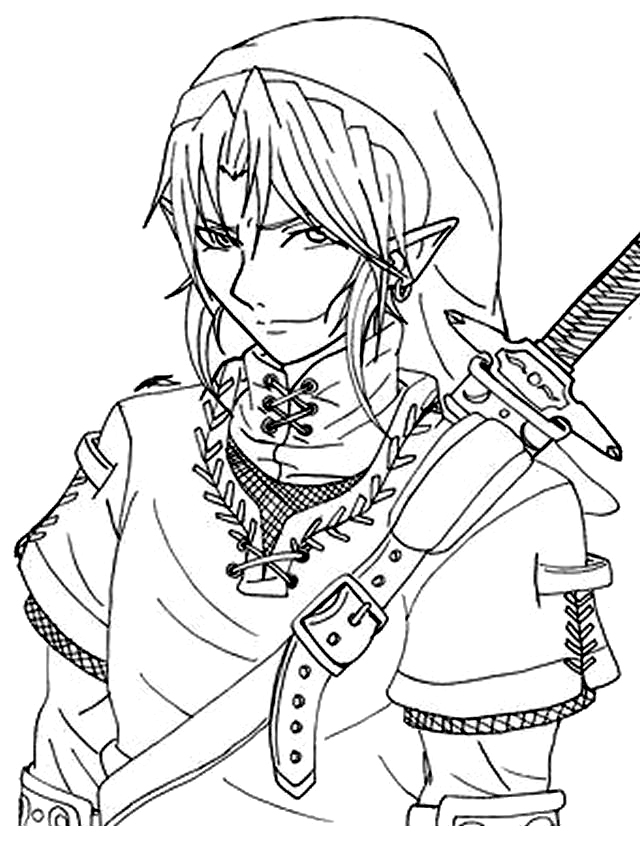 zelda coloring page,printable,coloring pages