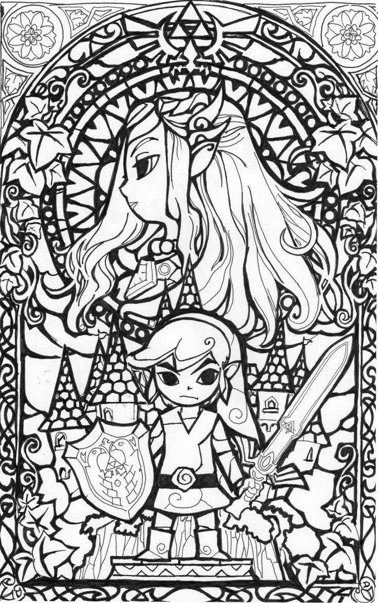 zelda coloring page to print,printable,coloring pages