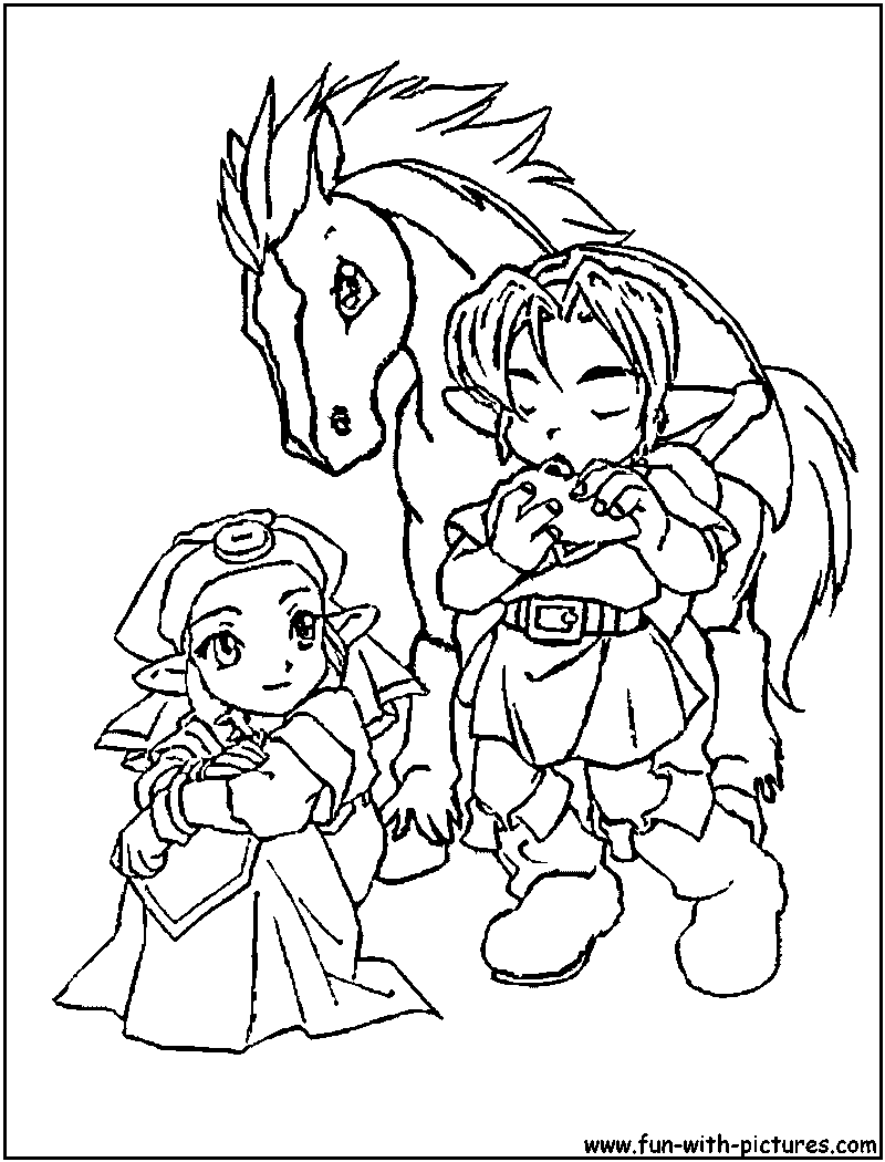 14 zelda coloring page | Print Color Craft