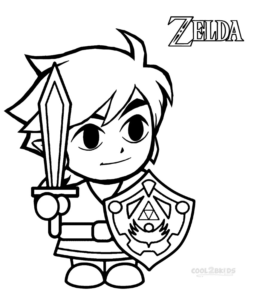 zelda coloring pages for kids,printable,coloring pages