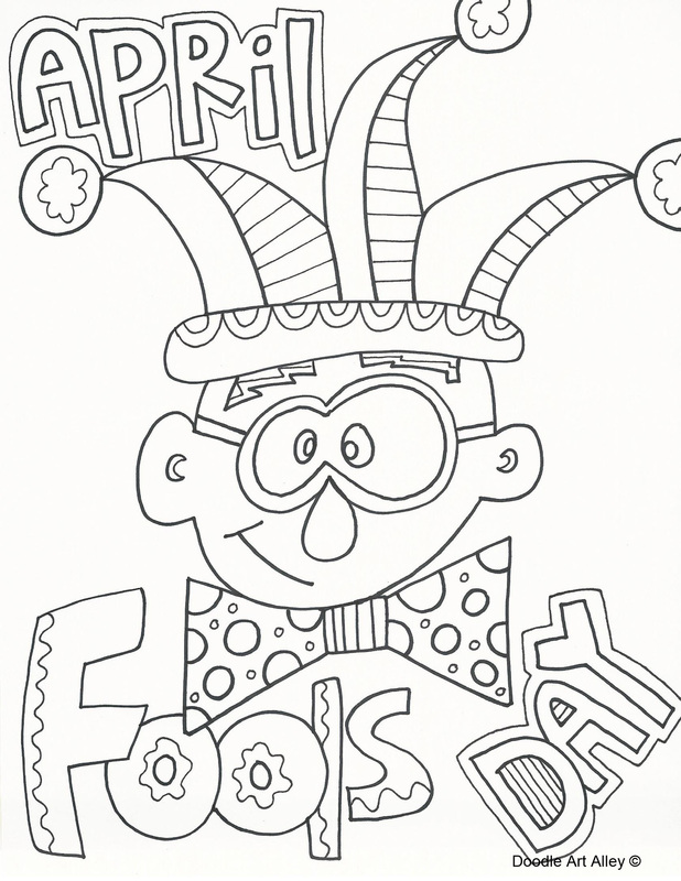 Worksheet. 12 coloring pages of april fools day  Print Color Craft