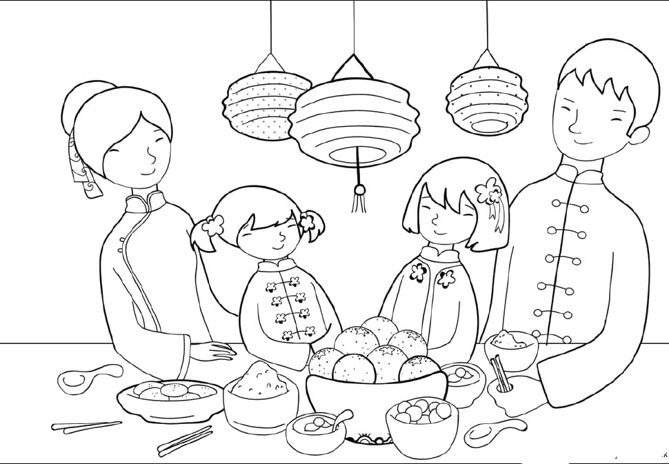 chinese-new-years-day coloring pages,printable,coloring pages