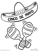 cinco-de-mayo coloring page,printable,coloring pages