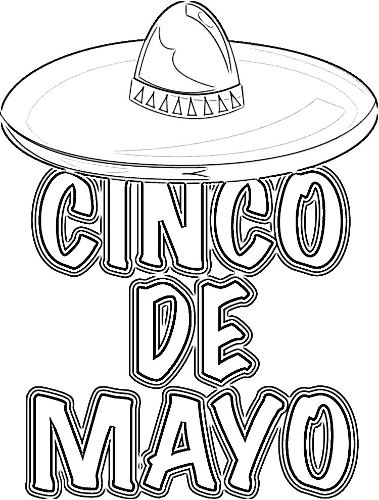 cinco de mayo free coloring pages | Cinco De Mayo Coloring Pages - Kidsuki