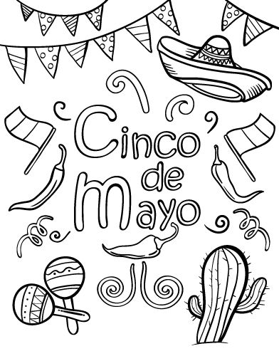 cinco-de-mayo coloring pages 13,printable,coloring pages