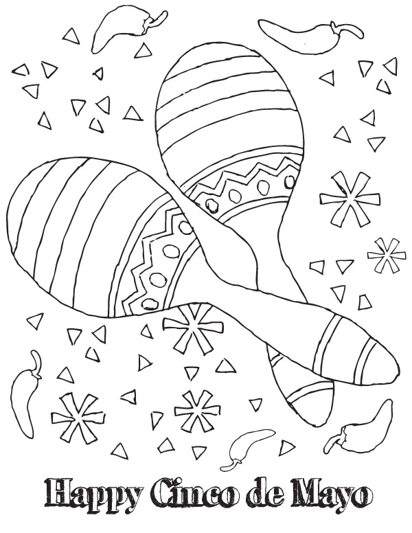 picture relating to Cinco De Mayo Coloring Pages Printable identified as 11 coloring illustrations or photos cinco de mayo - Print Colour Craft