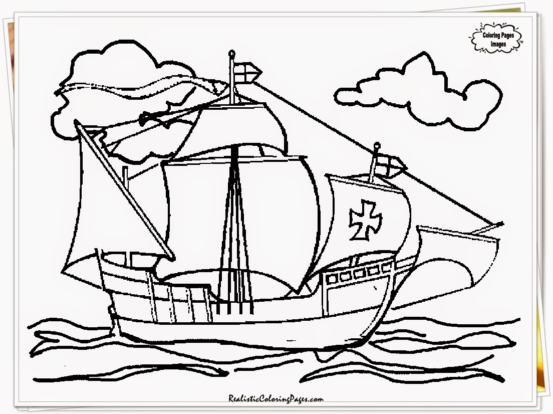 Columbus day coloring pages print color craft for Columbus coloring page