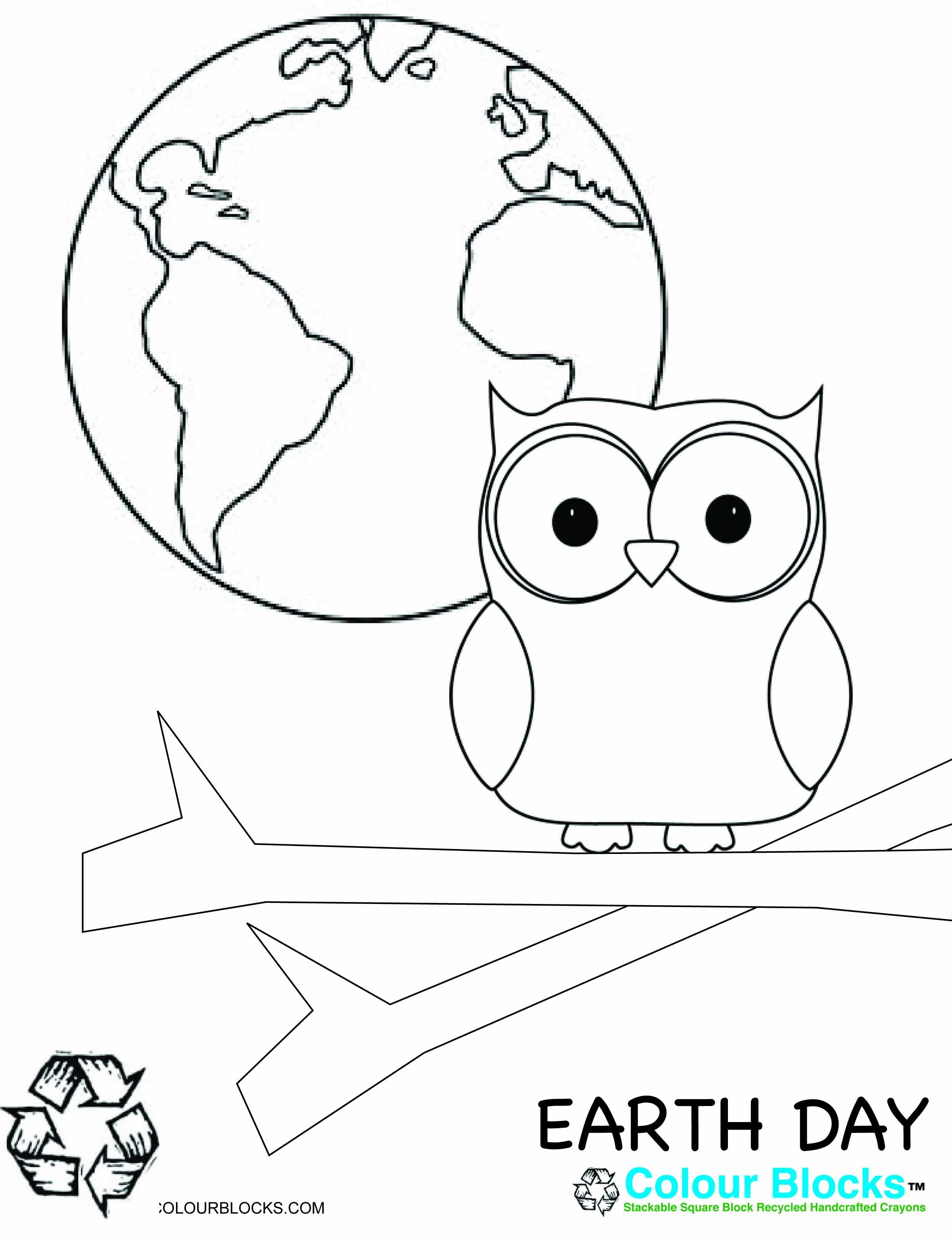 Earth Day Coloring Pages Pdf : Earth day coloring pages for kids print color craft
