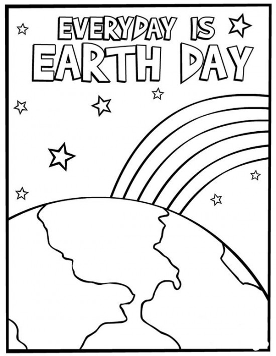 Earth Day Coloring Pages For Kidsprintablecoloring
