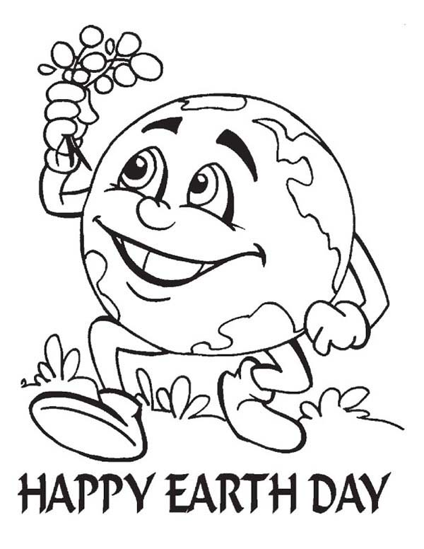 Kids Coloring Pages Earth Dayprintablecoloring