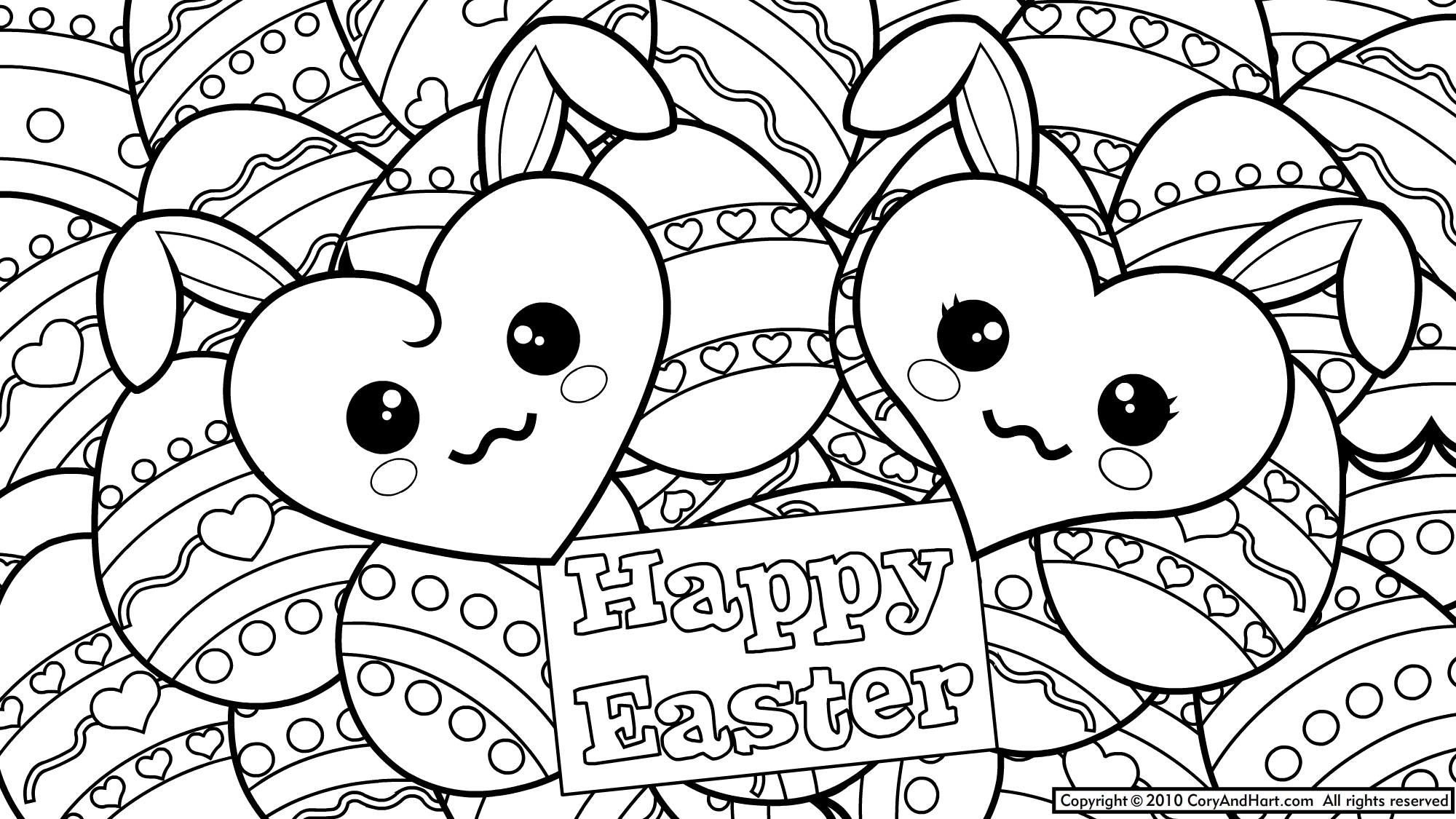 Easter Coloring Page To Printprintablecoloring Pages