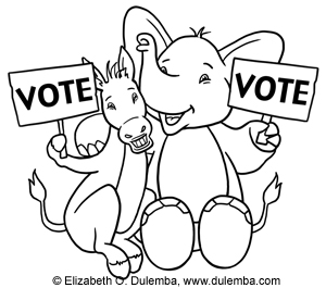 election-day coloring page,printable,coloring pages