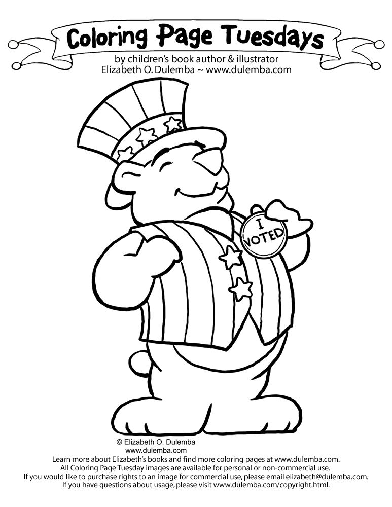 coloring pages vote - photo#11