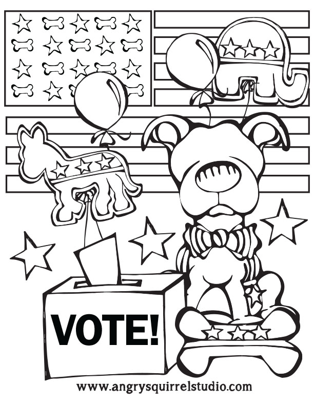 printable pictures of election-day page,printable,coloring pages