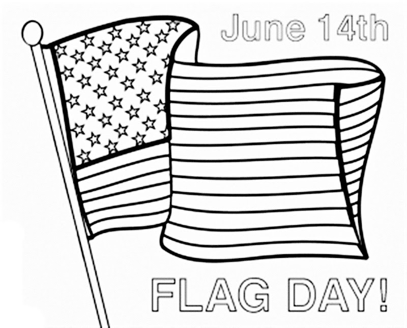 14 coloring pages of flag day print color craft