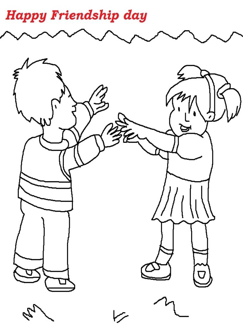 12 friendship day coloring pages printable print color craft