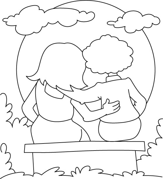 kids coloring pages friendship-day,printable,coloring pages