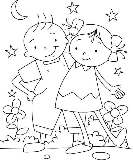 printable pictures of friendship-day page,printable,coloring pages