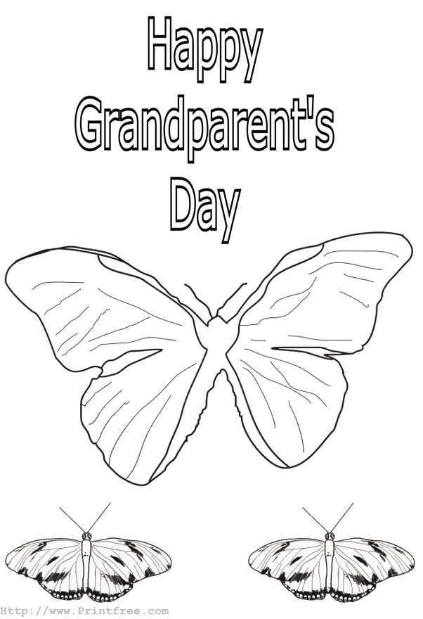 12 grandparents day coloring page