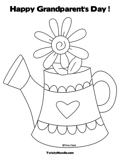 photo regarding Grandparents Day Printable Coloring Pages titled 12 grandparents working day coloring webpage - Print Shade Craft