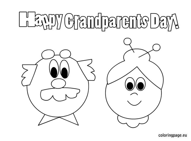 12 grandparents day coloring page - Print Color Craft