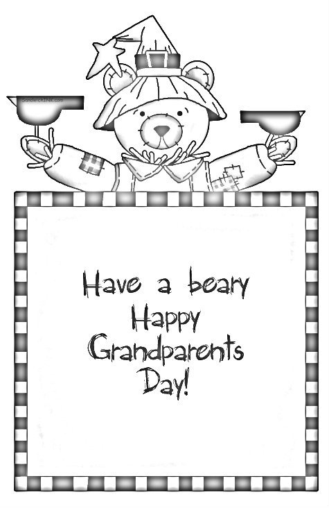Happy Grandparents Day Card coloring page | Free Printable ... | 732x475