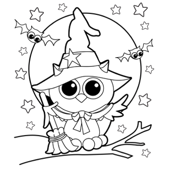 13 halloween coloring pages for kids print color craft - Pictures To Print And Color