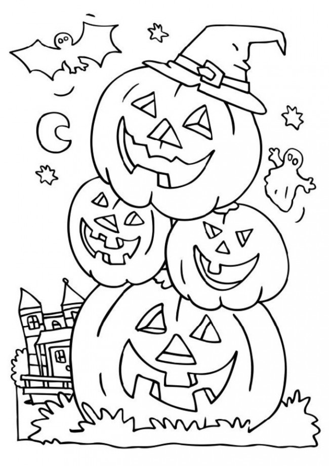 printable pictures of halloween page,printable,coloring pages