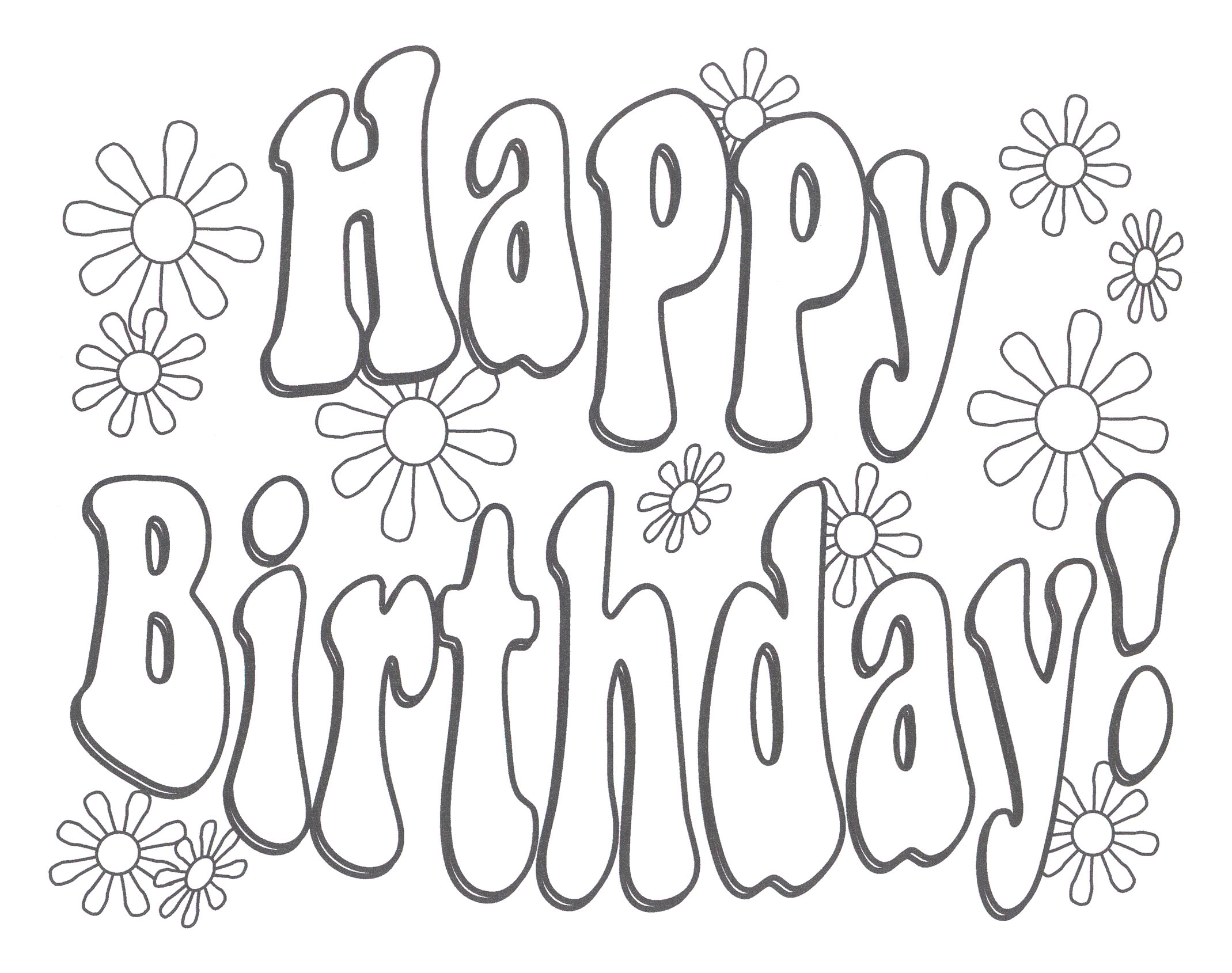happy-birthday coloring pages 12,printable,coloring pages