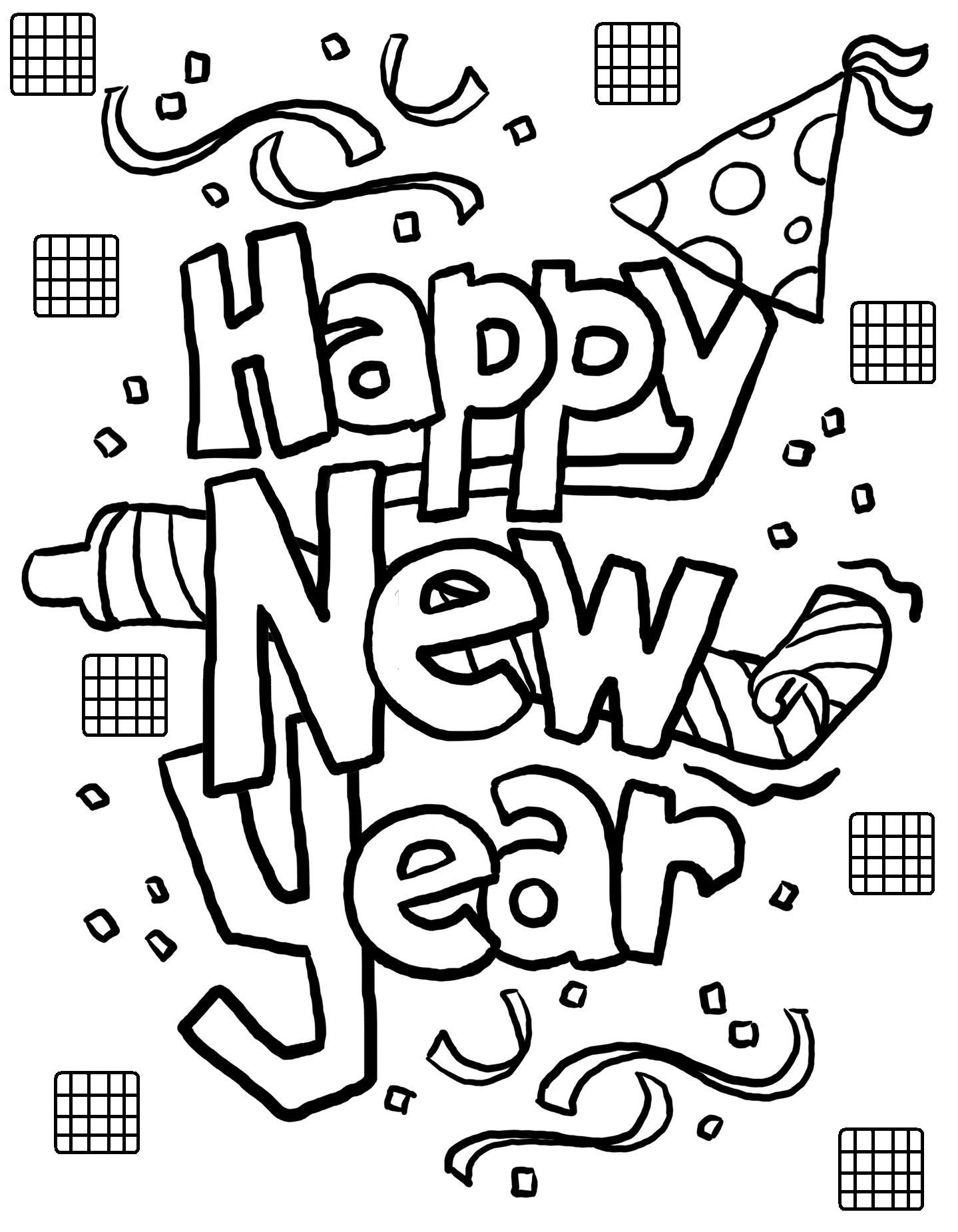 coloring pages of happy-new-year,printable,coloring pages