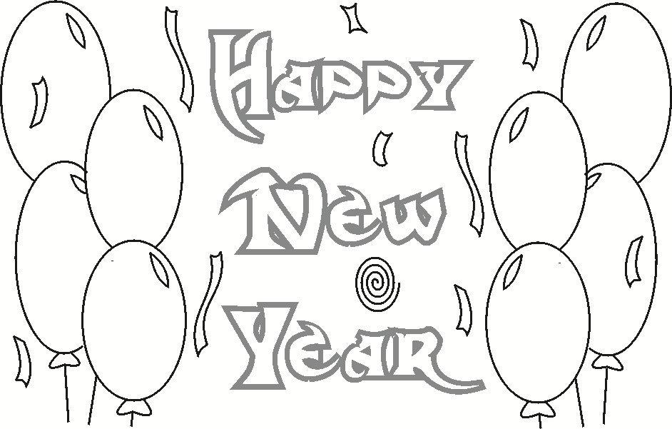 happy-new-year coloring page to print,printable,coloring pages