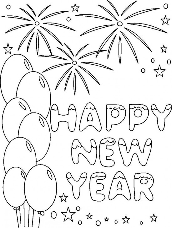 happy new year coloring pages 12printablecoloring pages