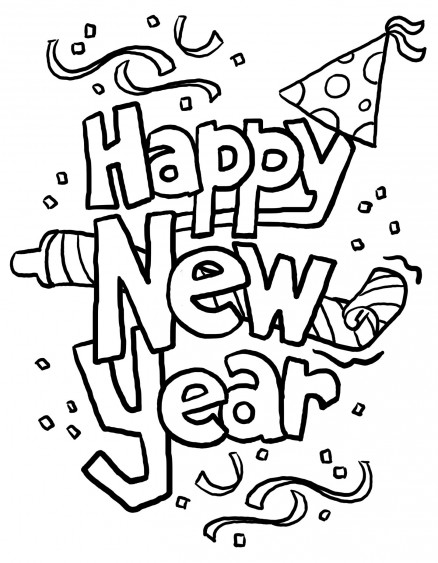 happy-new-year coloring pages 13,printable,coloring pages