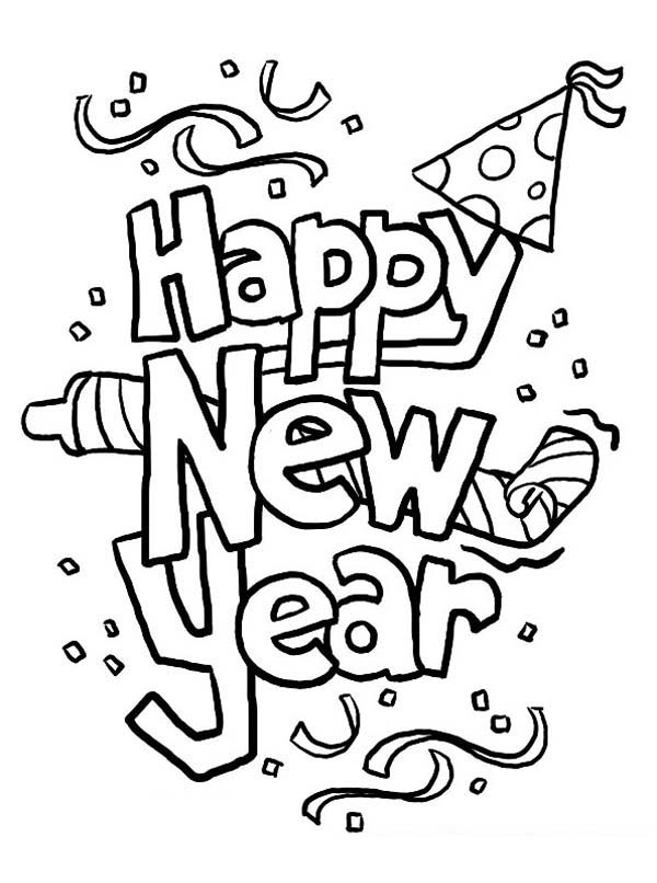 happy-new-year coloring pages for kids,printable,coloring pages