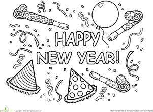 Image Result For Happy New Year Coloring Page